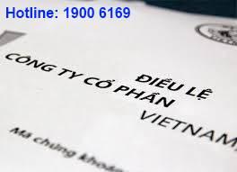 Mẫu Điều lệ Công ty/Doanh nghiệp 100% vốn nước ngoài