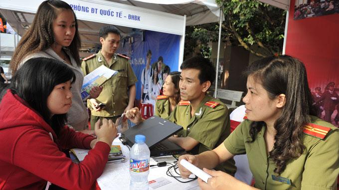 Chế độ ưu tiên tuyển sinh vào các trường Công an nhân dân