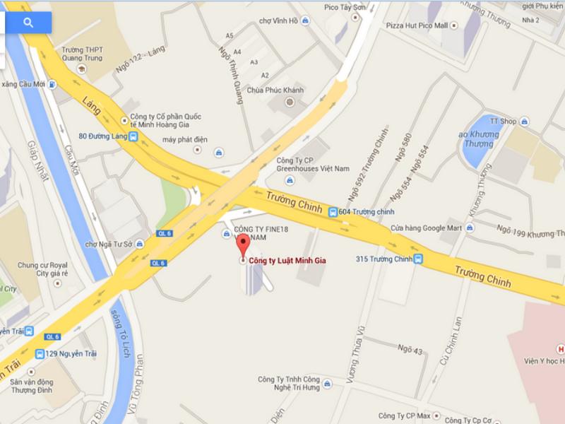 Bản đồ chỉ đường đến Công ty Luật Minh Gia