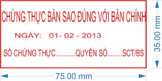 Thủ tục chứng thực bản sao từ bản chính giấy tờ, văn bản Tiếng Việt