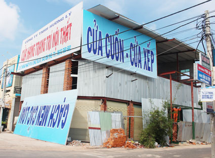 Thủ tục cấp phép thi công xây dựng biển quảng cáo tạm thời