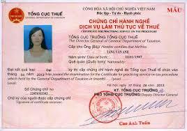 Đăng ký dự thi cấp chứng chỉ hành nghề dịch vụ làm thủ tục về thuế (đăng ký lần đầu)