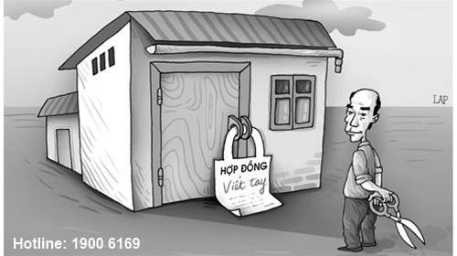 Tư vấn về Hợp đồng tặng cho nhà ở bằng giấy viết tay