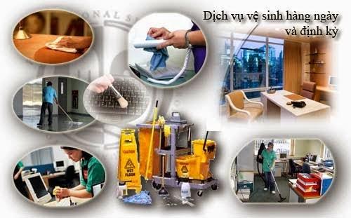 Hoạt động dịch vụ vệ sinh nhà cửa, công trình và cảnh quan