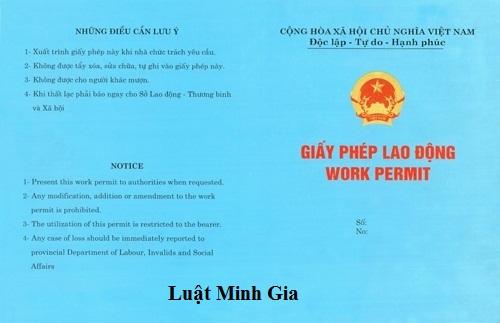 Hồ sơ cho người lao động nước ngoài vào làm việc tại Việt Nam