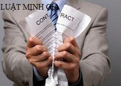 Tư vấn về trường hợp đơn phương chấm dứt thực hiện hợp đồng
