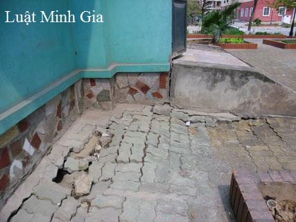 Xử phạt với hành vi tổ chức xây dựng gây sụt lún nhà ở bên cạnh