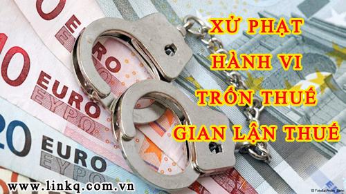 Mức xử phạt đối với hành vi trốn thuế?