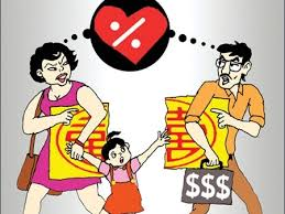 Quyền nuôi con và nghĩa vụ chung về tài sản của vợ chồng khi ly hôn