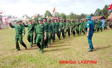 Điều kiện trúng tuyển nghĩa vụ quân sự