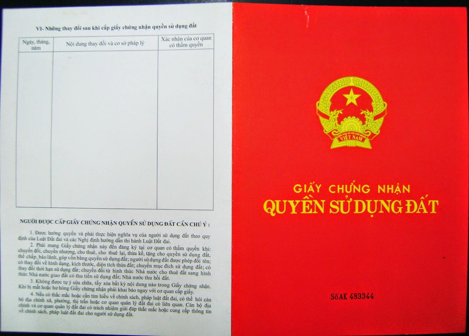 Sang tên giấy chứng nhận quyền sử dụng đất trong trường hợp nhận thừa kế