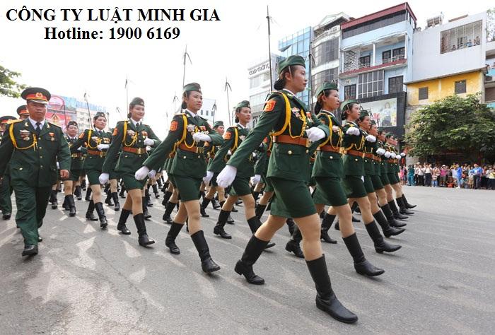 Công dân nữ thực hiện nghĩa vụ quân sự có nguyện vọng phục vụ lâu dài trong quân đội