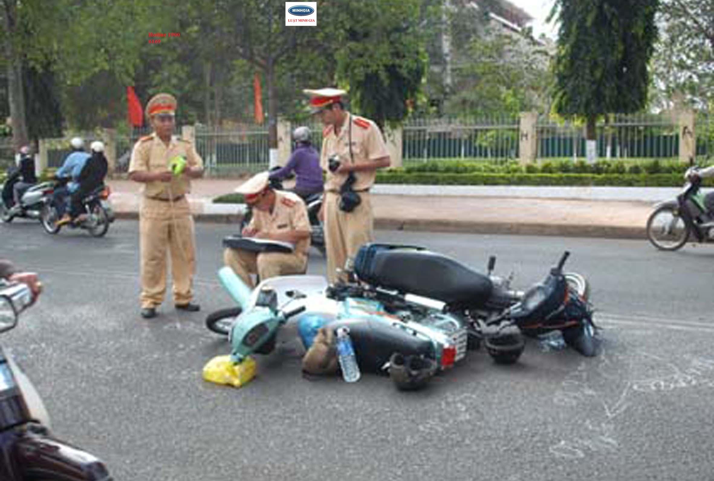 Bồi thường thiệt hại khi người bị thiệt hại có lỗi gây ra tai nạn giao thông.