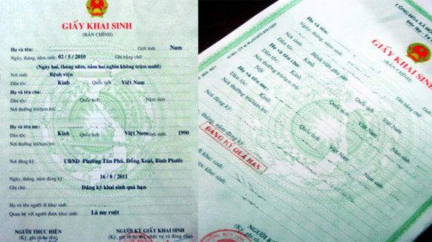 Thủ tục công chứng khi không có giấy khai sinh