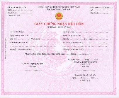 Thủ tục đăng ký kết hôn với người nước ngoài