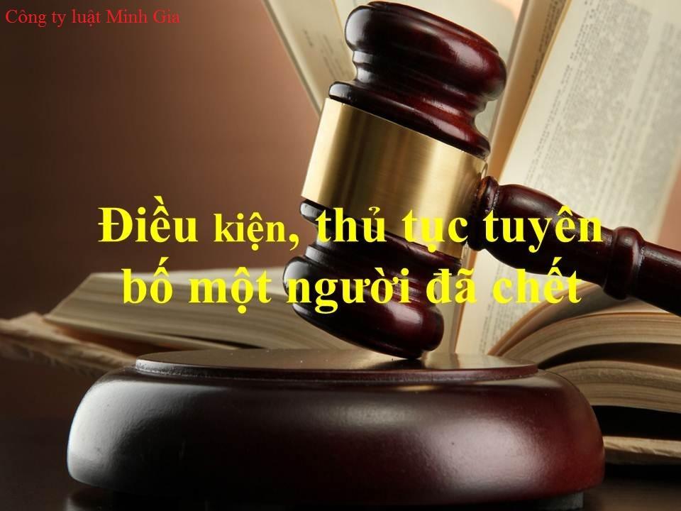 Thủ tục yêu cầu Tòa án tuyên bố một người đã chết