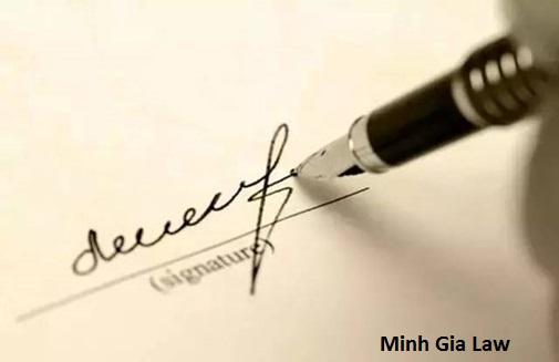 Tư vấn về chữ ký trong hợp đồng, giao dịch