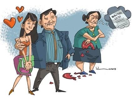 Chồng ngoại tình và yêu cầu vợ viết đơn ly hôn