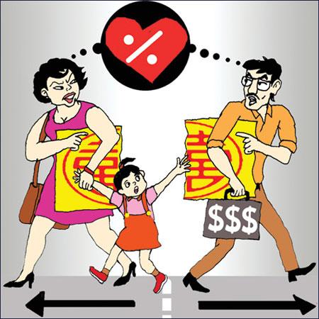 Khi ly hôn tài sản được phân chia như thế nào?