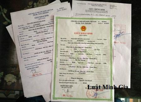Thay đổi Tên trên giấy khai sinh