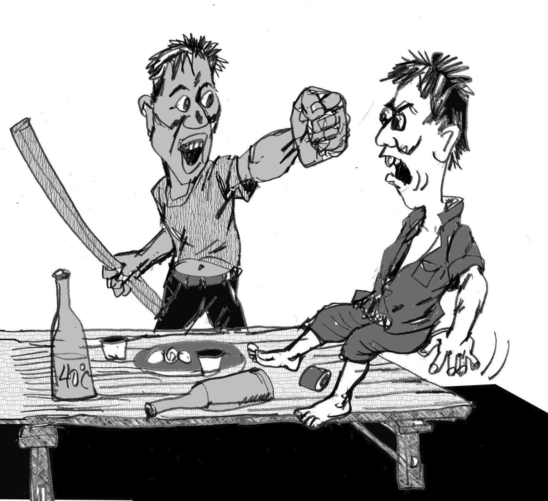 Xử lý hành vi cầm dao dọa giết người