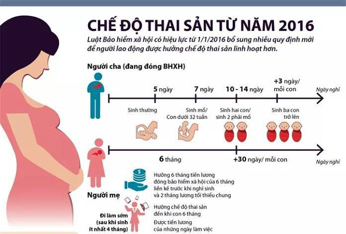 Quy định về chế độ thai sản và hưởng tiền trợ cấp thai sản