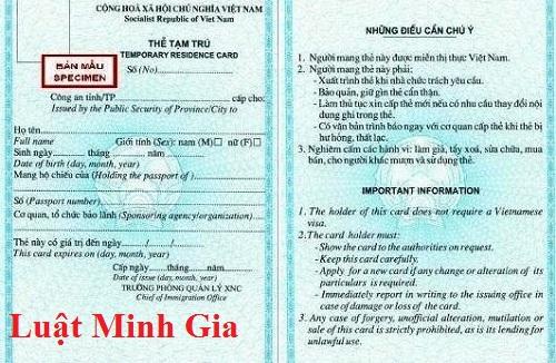 Tư vấn về đăng ký tạm trú cho người nước ngoài có nhà riêng tại Việt Nam