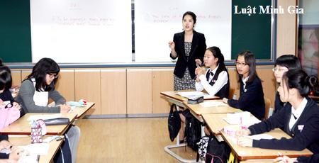 Quy định về việc giáo viên Tiếng anh dạy 2 tiết/tuần.